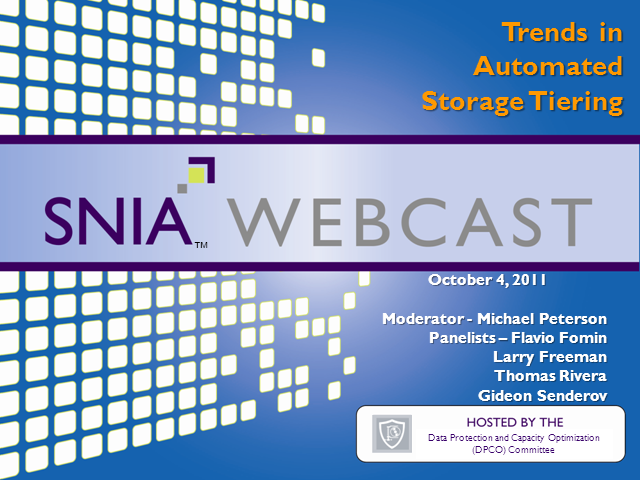 Trends in Automated Storage Tiering