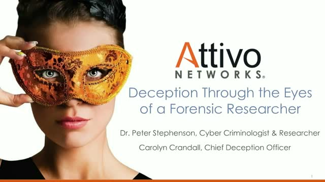 Deception Though the Eyes of a Forensic Researcher