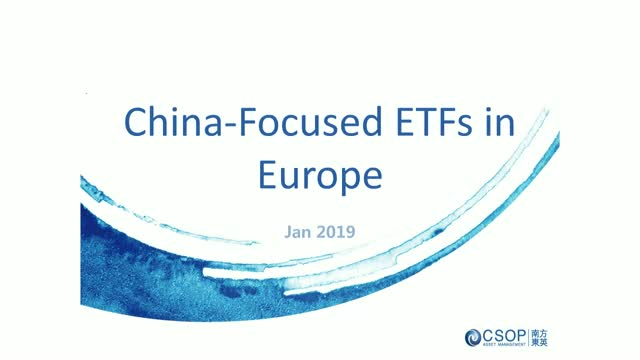 China-focused ETF Landscape in Europe