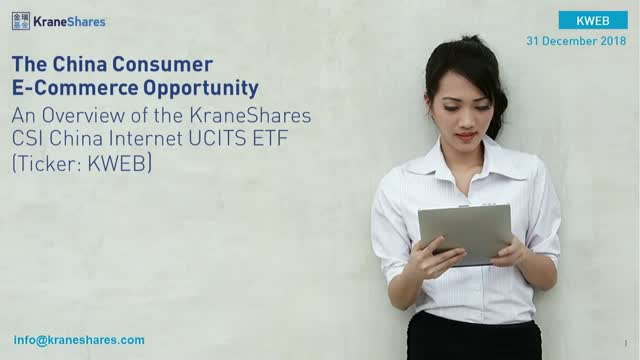 China Consumer eCommerce Opportunity: KWEB- KraneShares China Internet UCITS ETF