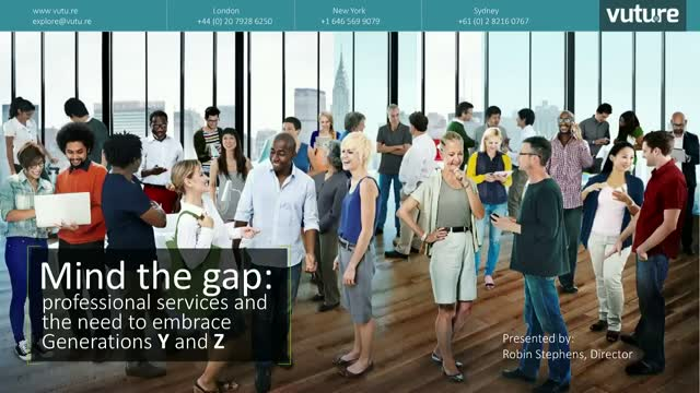 Mind the gap: professional services and the need to embrace Generations Y and Z