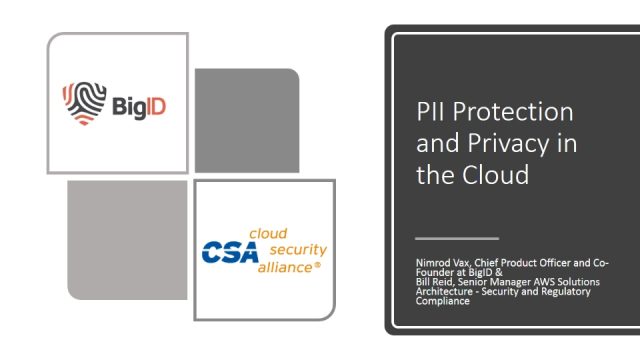 PII Protection and Privacy in the Cloud
