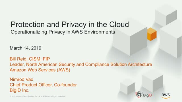 BigID, AWS, & Cloud Security Alliance Webinar