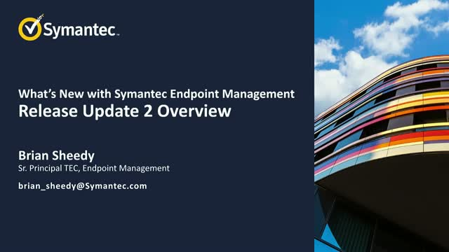What's New with Symantec Endpoint Management
