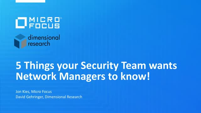 5 Things Every SecOps Team Wants Their NetOps Team to Know!