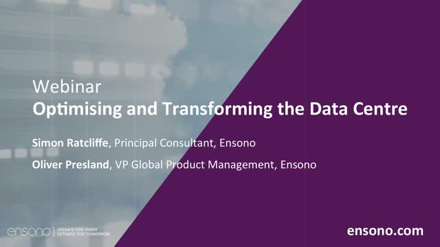 Ensono | Optimising and Transforming the data centre