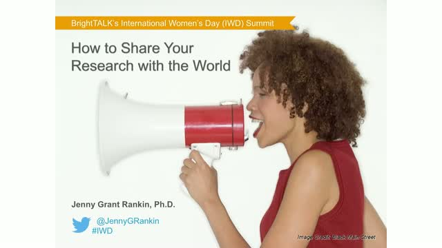 How to Share Your Research with the World