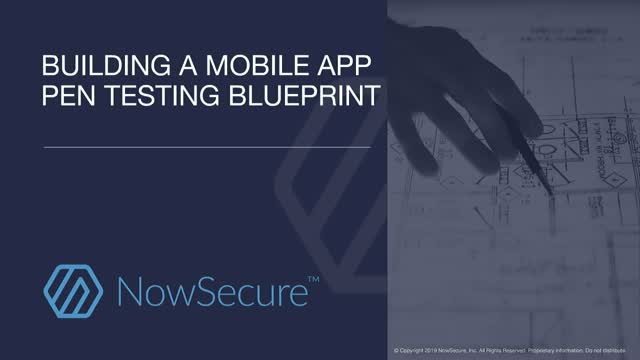 Building a Mobile App Pen Testing Blueprint