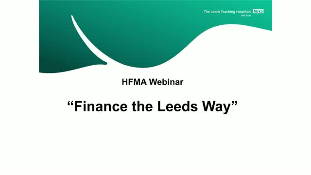 Finance team of the year – 'finance the Leeds way'