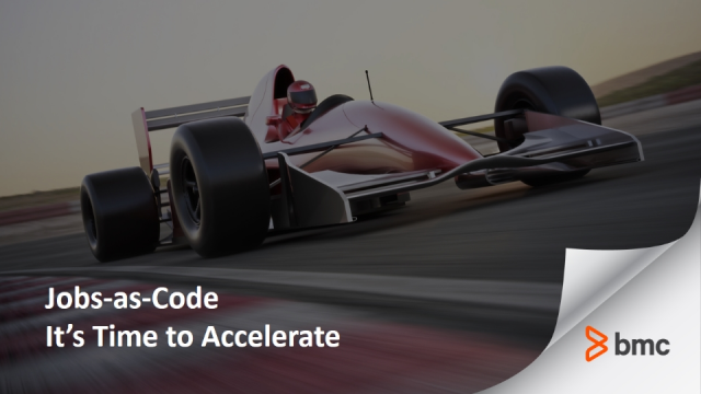 Jobs-as-Code : It's Time to Accelerate