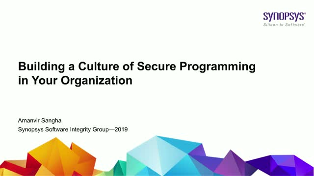 Building a Culture of Secure Programming in your Organisation