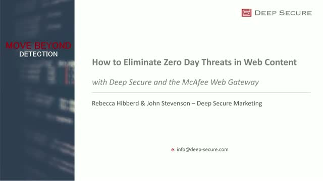 How to Eliminate Zero Day Threats in Web Content