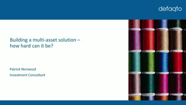 Building a multi-asset solution - how hard it can be?