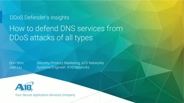 How to defend DNS services from DDoS attacks of all types