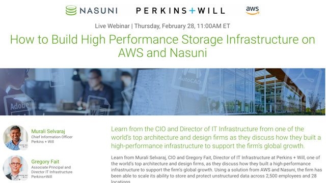 """""""How to Build a High Performance Storage Infrastructure on AWS and Nasuni"""