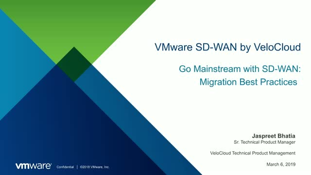 Go Mainstream with SD-WAN - Migration Best Practices