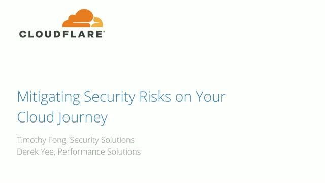 Mitigating Security Risks on Your Cloud Journey