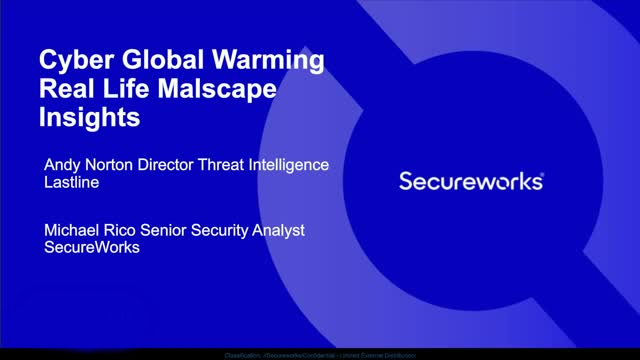 Cyber Global Warming: Real Life Malscape Insights