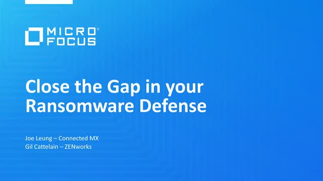 Close the gap in your ransomware defense