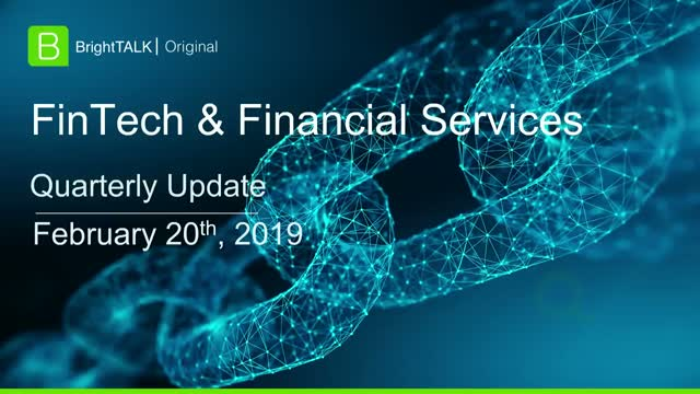 Q1 2019 Community Update: FinTech and Financial Services