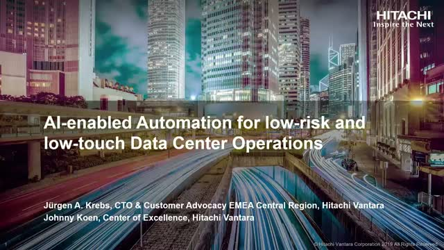 AI-enabled automation for low-risk and low-touch data center operations