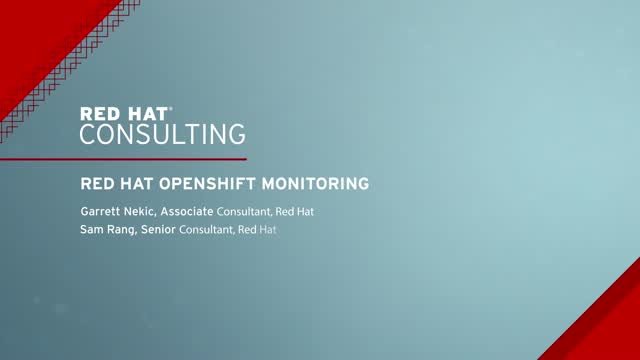 Red Hat OpenShift monitoring