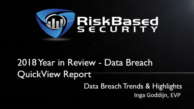 The Data Breach Landscape - Trends and Highlights From 2018