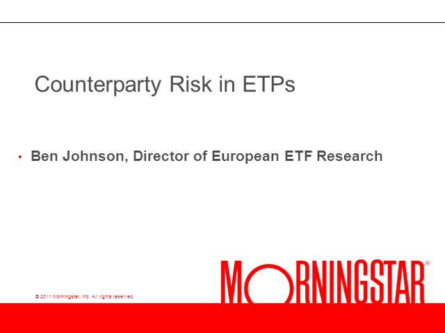 Counterparty Risk in ETPs