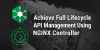 Achieve Full API Lifecycle Management Using NGINX Controller