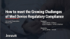How to meet the Growing Challenges of Med Device Regulatory Compliance