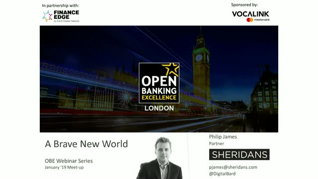 Open Banking Excellence: Brave New World
