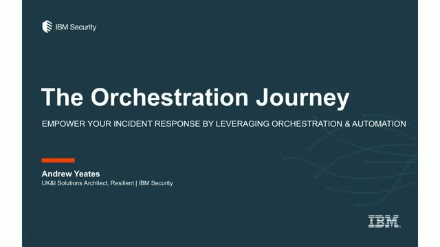 The Orchestration Journey in Incident response