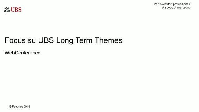 WebConference: UBS Long Term Themes