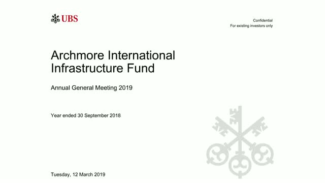 Archmore International Infrastructure Fund (AIIF): 2019 Annual General Meeting