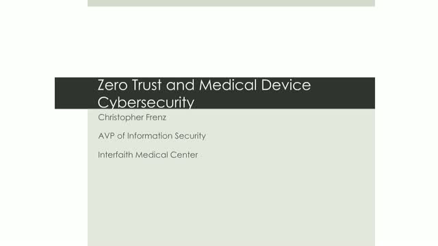 Zero-Trust and Securely Deploying Medical Devices