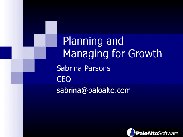 Planning & Managing: Rise above the down economy and grow!