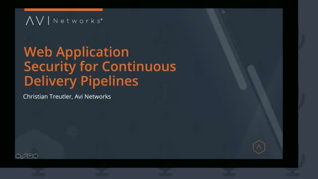 Web Application Security for  Continuous Delivery Pipelines