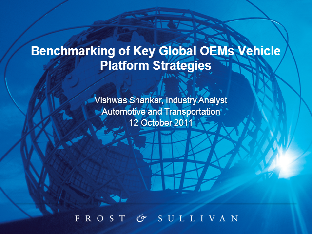 Benchmarking of OEMs - Vehicle Platform Strategies
