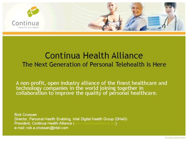 Continua Health Alliance - Interoperable Telehealth Solutions