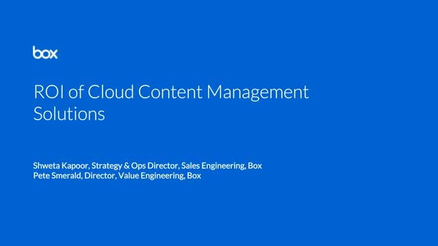 ROI of cloud content management solutions