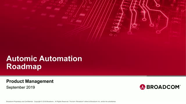 Automic  Automation Roadmap