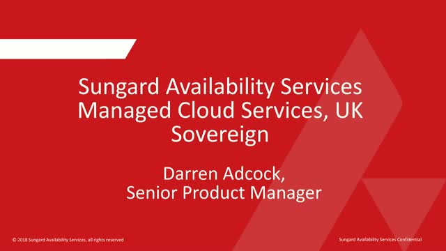 Managed Cloud Services, UK Sovereign