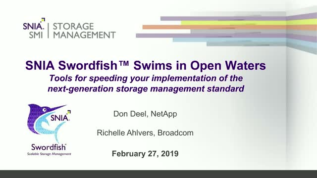 SNIA Swordfish™ Swims in Open Waters