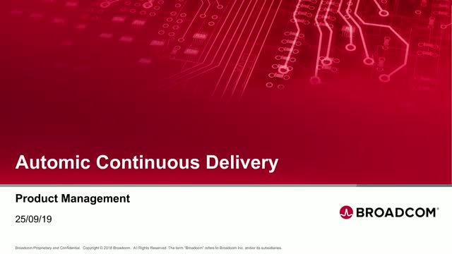 Automic Continuous Delivery Roadmap