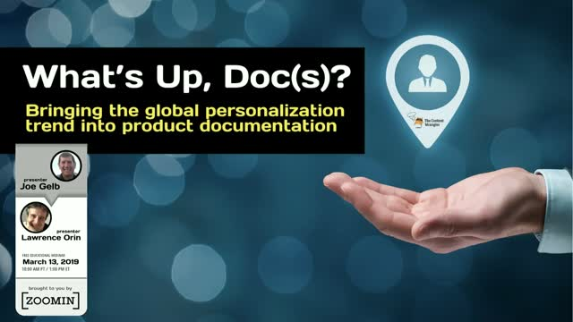 What's Up, Doc(s)? Bringing the Global Personalization Trend into Documentation