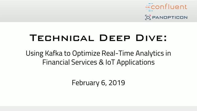 Using Apache Kafka to Optimize Real-Time Analytics in Financial Services & IoT
