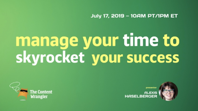 Manage Your Time; Skyrocket Your Success