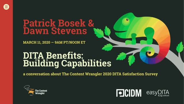 DITA Benefits: Building Capabilities