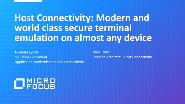 Host Connectivity: Modern and world class secure emulation on any device