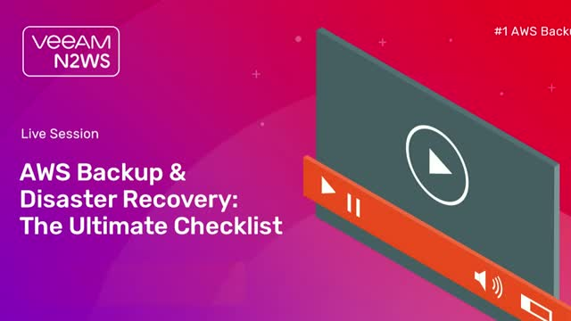 AWS Backup and Disaster Recovery: The Ultimate Checklist (EMEA)